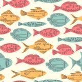 Peixes engraçados da garatuja Fotos de Stock