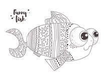 Peixes engraçados Livro de coloração Imagem de Stock