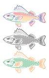 Peixes estilizados ilustração stock