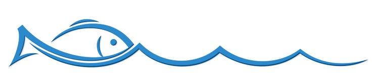 Peixes estilizados do logotipo ilustração do vetor