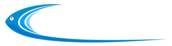 Peixes estilizados do logotipo ilustração stock