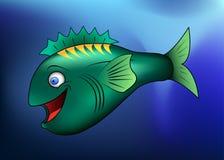 Peixes felizes dos desenhos animados Fotografia de Stock