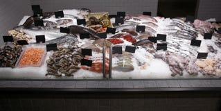 Peixes frescos e o outro marisco Foto de Stock