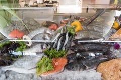 Peixes frescos indicados, Creta Grécia foto de stock royalty free