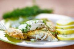 Peixes fritados Imagens de Stock