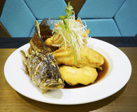 Peixes fritados da caranga Foto de Stock Royalty Free
