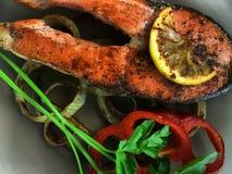 Peixes fritados deliciosos Foto de Stock Royalty Free