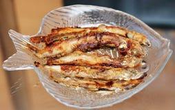 Peixes fritados do badejo Foto de Stock Royalty Free