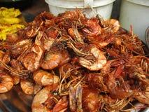 Peixes fritados do camarão foto de stock royalty free