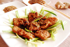 Peixes fritados - estilo de laos Imagens de Stock