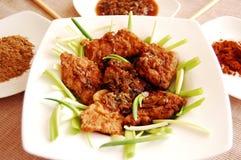Peixes fritados - estilo v6 de laos imagens de stock royalty free