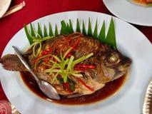 Peixes fritados foto de stock