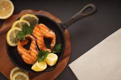 Peixes fritados ou grelhados Foto de Stock Royalty Free