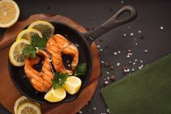 Peixes fritados ou grelhados Fotografia de Stock