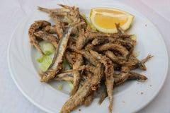 Peixes fritados pequenos - Tapas Fotografia de Stock Royalty Free
