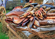 Peixes fumados Fotografia de Stock Royalty Free