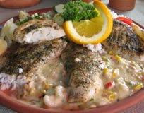 Peixes grelhados Fotografia de Stock