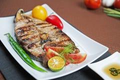 Peixes grelhados Imagens de Stock