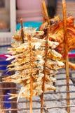 Peixes grelhados com sabor salgado Fotografia de Stock Royalty Free