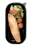 Peixes grelhados com vegetais Imagens de Stock Royalty Free