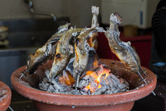 Peixes grelhados do estilo japonês Fotos de Stock Royalty Free