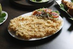 Peixes Kabiraji - Fried Fish em uma rede do ovo Imagens de Stock