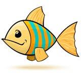 Peixes listrados azuis amarelos fotografia de stock