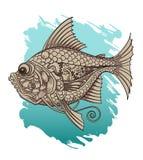 Peixes mecânicos ilustração royalty free