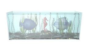 Peixes na ilustração da composição 3D do aquário Foto de Stock