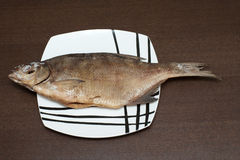 Peixes na placa imagens de stock