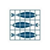 Peixes na rede Imagens de Stock