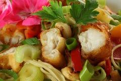 Peixes na salada Imagem de Stock