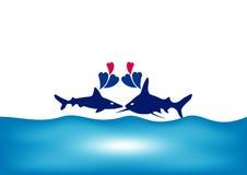Peixes no amor Foto de Stock