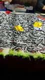 Peixes no bazar Foto de Stock