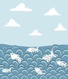 Peixes no oceano Ilustração Royalty Free