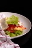 Peixes no pão Fotografia de Stock Royalty Free