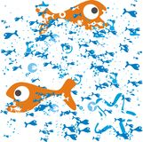 Peixes no vetor ilustração royalty free