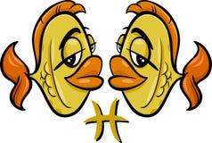 Peixes ou o sinal do zodíaco dos peixes ilustração royalty free