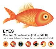 Peixes Overwhite | IMAGEM DO VETOR Imagem de Stock Royalty Free