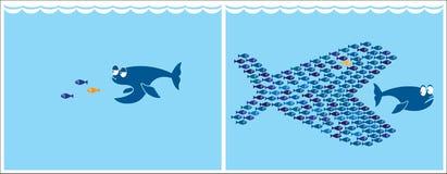 Peixes pequenos ilustração royalty free