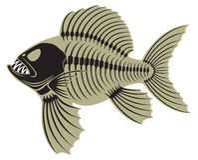 Peixes pré-históricos Foto de Stock