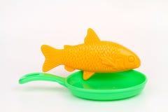 Peixes que cozinham a vida do conceito ainda Imagens de Stock Royalty Free
