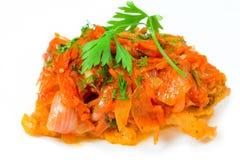 Peixes Roasted no marinade do tomate imagens de stock