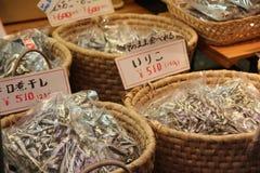 Peixes secados japonês Foto de Stock Royalty Free