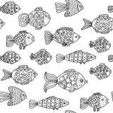 Peixes sem emenda Fotos de Stock Royalty Free