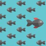 Peixes, sendo conceito diferente ilustração do vetor