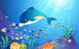 Peixes sob a água Fotos de Stock