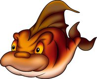 Peixes subaquáticos inflamados Foto de Stock Royalty Free