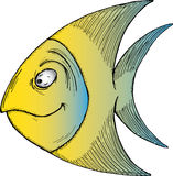 Peixes tropicais dos desenhos animados ilustração do vetor