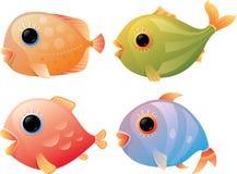 Peixes tropicais dos desenhos animados Fotografia de Stock Royalty Free